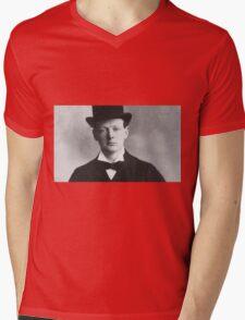 Historical Hipsters - Winston Churchill Mens V-Neck T-Shirt