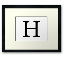 Eta Greek Letter Framed Print