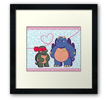 Angry Tots Framed Print