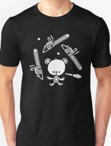 Cute Teddy Juggling 2 Balls, 3 Chainsaws and Club Unisex T-Shirt