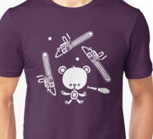 Cute Teddy Juggling 2 Balls, 3 Chainsaws and Club Unisex T-Shirt