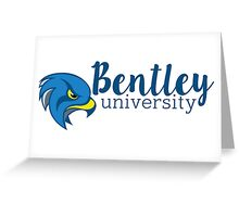 Bentley University Falcons sticker Greeting Card