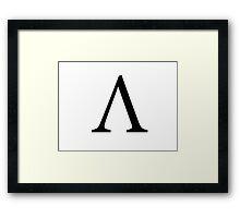 Lambda Greek Letter Framed Print