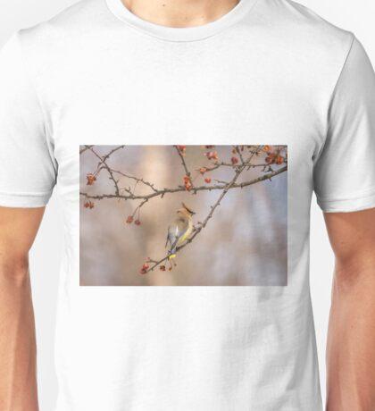 Cedar Waxwing Eating Berries 2014-2 Unisex T-Shirt