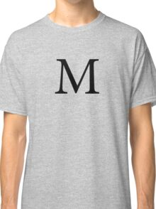 Mu Greek Letter Classic T-Shirt