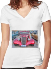 Candy Apple #2 Women's Fitted V-Neck T-Shirt