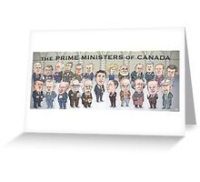 Canada's Prime Ministers Greeting Card