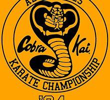 COBRA KAI Karate Kid Sweep movie vintage 80a Leg Kung Fu by Tyas-Miranda