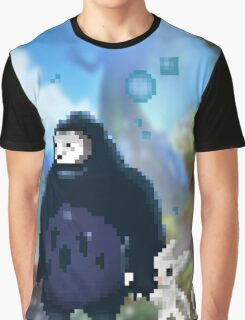 Pixel Ori and Kuro Graphic T-Shirt
