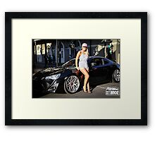 scion fr-s and sexy girl Framed Print