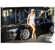 scion fr-s and sexy girl Poster