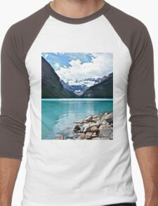 Lake Louise Alberta Men's Baseball ¾ T-Shirt