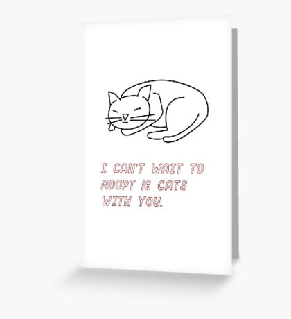 Cat Lovers Greeting Card