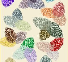 Coloured Leaf Pattern 1440 Views by aldona