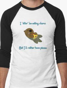 Pizza Otter Men's Baseball ¾ T-Shirt