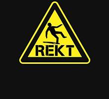 rekt hazard sign Unisex T-Shirt