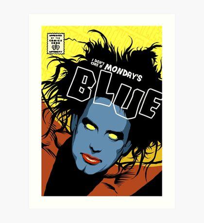 Post-Punk Blue Art Print