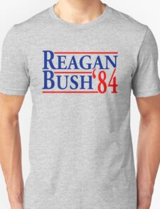 REAGAN BUSH 84 Retro Tee Shirt Ronald George HW vintage Republican Election 1984 T-Shirt