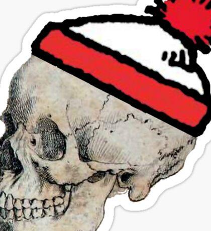 Skulls with Hats - Where's Waldo Sticker