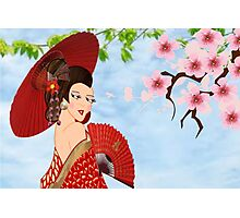 Geisha (15256  views) Photographic Print