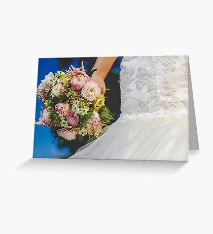 Bouquet & Dress  Greeting Card