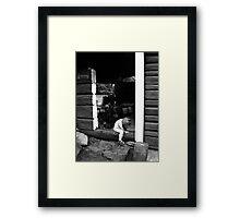 Sauna elf Framed Print