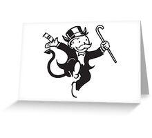 Monopoly Devil Greeting Card