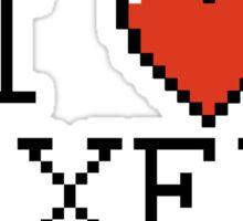I love pixels Sticker