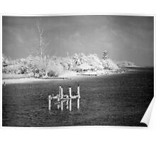 Storm-Battered Shore Poster