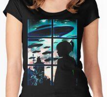 Baby Look Space in Window Women's Fitted Scoop T-Shirt