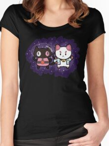 SPACE CATS! Women's Fitted Scoop T-Shirt