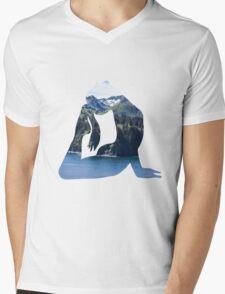 Tree Pose on a Mountain Mens V-Neck T-Shirt