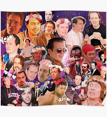 Steve Buscemi Galaxy Collage Poster