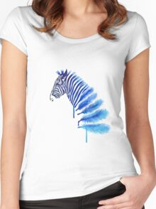 Tumblr Watercolor Zebra Women's Fitted Scoop T-Shirt
