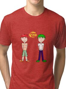 Phineas and Ferb! Tri-blend T-Shirt