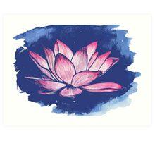 Lotus print Art Print