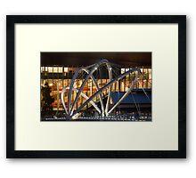 Docklands Bridge at Night Framed Print
