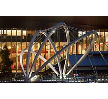 Docklands Bridge at Night Photographic Print