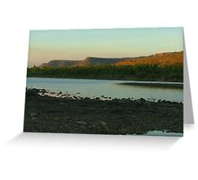 Afternoon on the Pentecost River, Kimberleys.  WA. Greeting Card