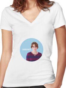 Sharkfarts. Women's Fitted V-Neck T-Shirt