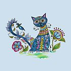 Folk Art Cat with Attitude by Kayleigh Walmsley