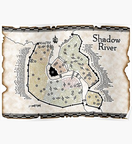 City of Shadow River Poster
