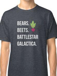 Bears. Beets. Battlestar Galactica. - The Office Classic T-Shirt