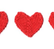 Red Love Hearts in a Row Sticker