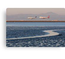 Planes Landing Canvas Print