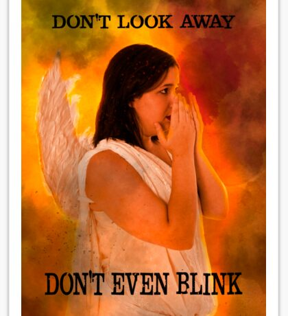 Don't look away. Don't even blink (Doctor Who) Sticker