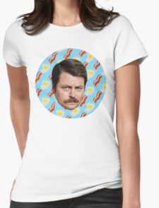 Ron N Bacon N Eggs Womens Fitted T-Shirt