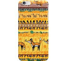 Fox and the crow pattern iPhone Case/Skin