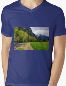 Spring meets winter in the Alps Mens V-Neck T-Shirt