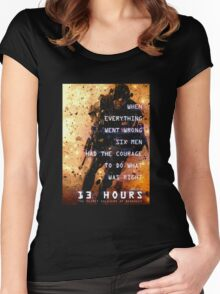 13 hours: the secret soldiers of benghazi Women's Fitted Scoop T-Shirt